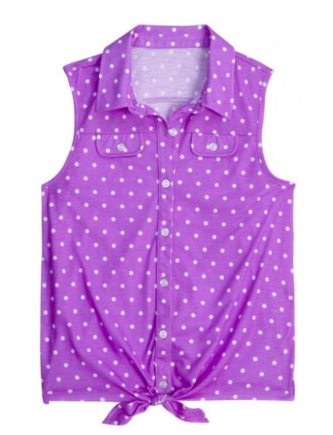 Sleeveless Polka Dot Knit Shirt | Girls Shirts Clothes | Shop Justice