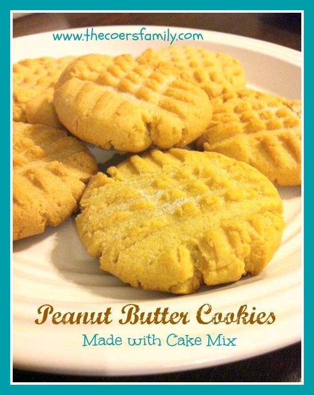 1 Box Yellow Cake Mix 2 Eggs 1 C Peanut Butter 1 Tsp