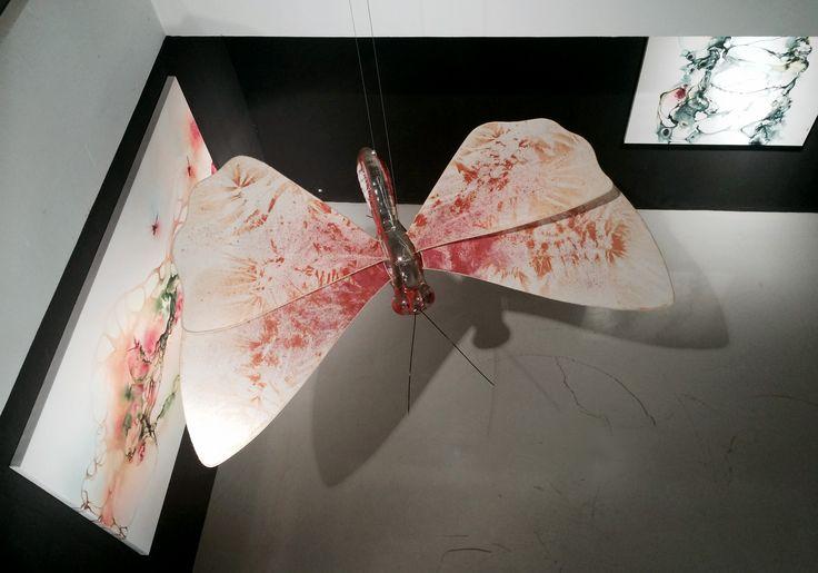 Artist Rikke Darling. Solo exhibition at Galeri Canna, Jakarta, Indonesia. 2014 www.rikkedarling.com  #artistrikkedarling #canna #galeri #painting #acrylic #artwork #art #artist #gallery #artgallery #rikkedarling #jakarta #Indonesia #butterfly #galericanna