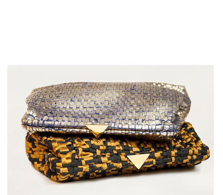 Dubai in handwoven fabric. Shock cognac+black & diamante blue+gold lamineted. 100% poly brass closure