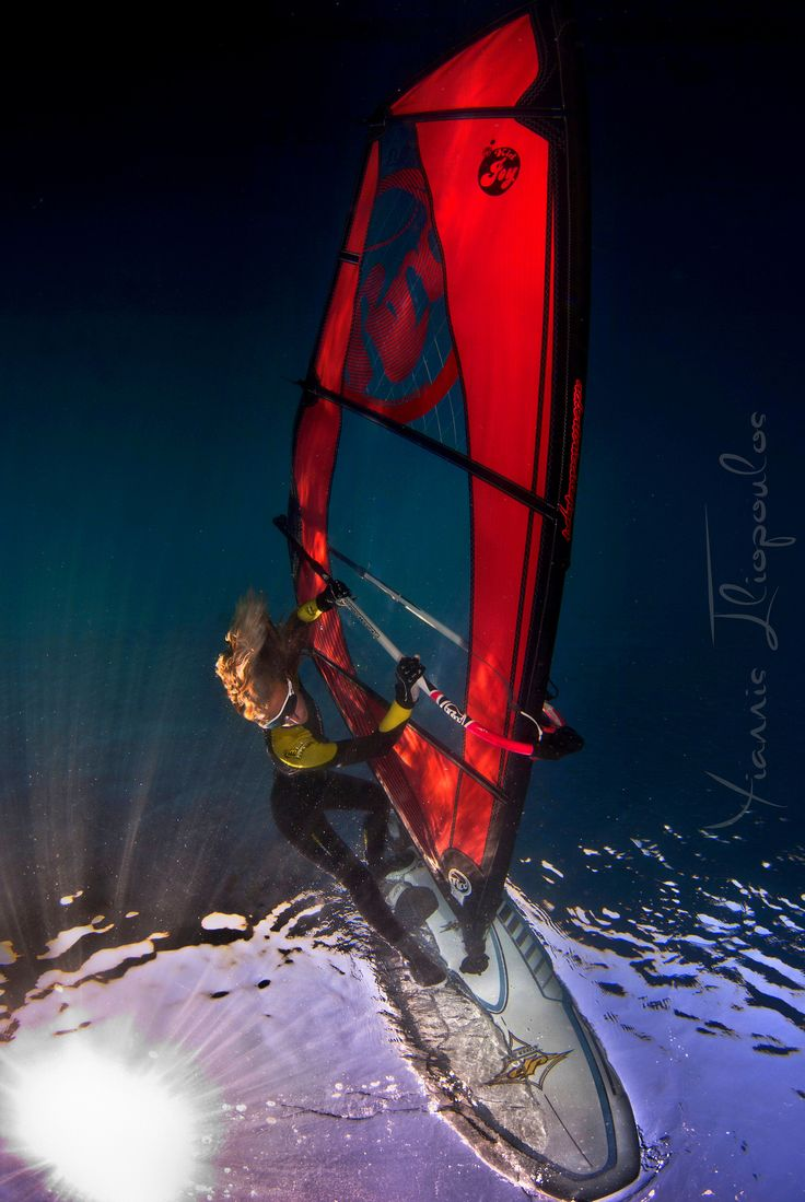 Underwater windsurfing | Photo by Yiannis Iliopoulos -- Athos Scuba Diving Center