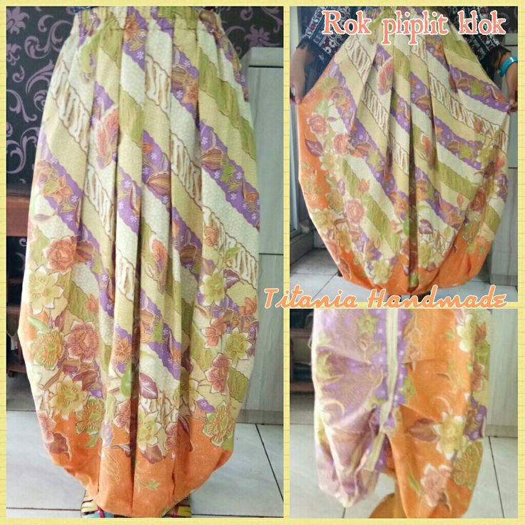 Rok plipit batik pjg.92cm lingkar pinggang 80cm@250