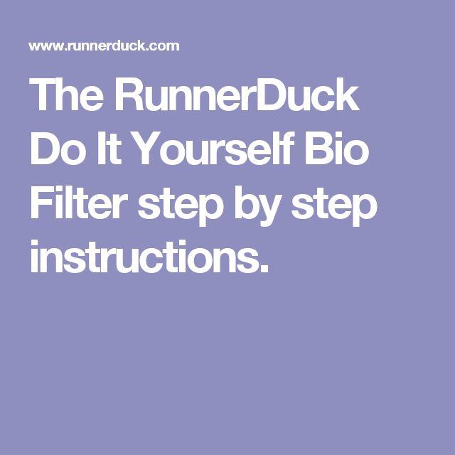The runnerduck do it yourself bio filter step by step instructions the runnerduck do it yourself bio filter step by step instructions first attempt pinterest solutioingenieria Images