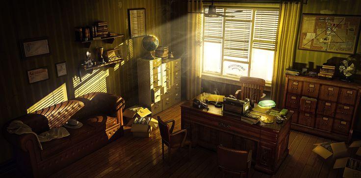 Detective�s Office by Eugenio García Villarreal 1600px X 790px