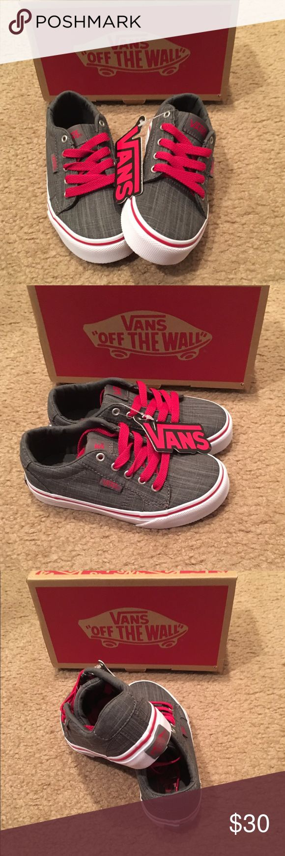 Boys Bishop Vans skate shoes New in box. Pewter/red. Toddler size 10.5 Vans Shoes Sneakers