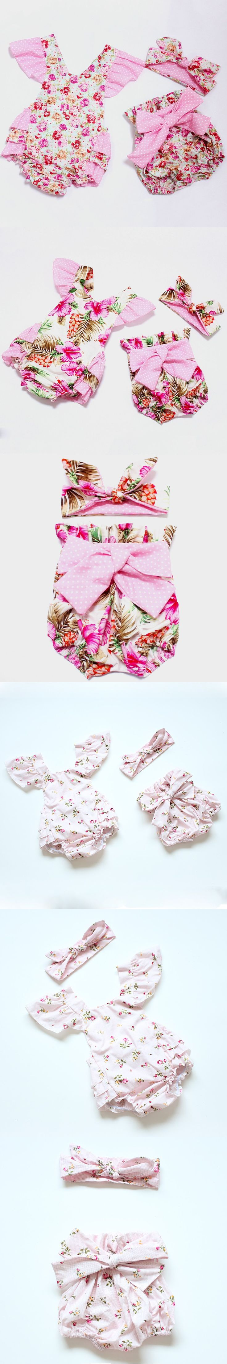 2016 new arrive boutique toddler romper set beautiful baby romper print flowers for baby,newborn baby girl clothes