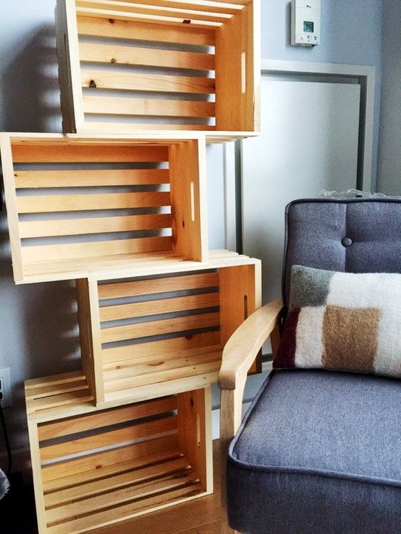 25 Best Wood Crate Shelves Ideas On Pinterest Crates