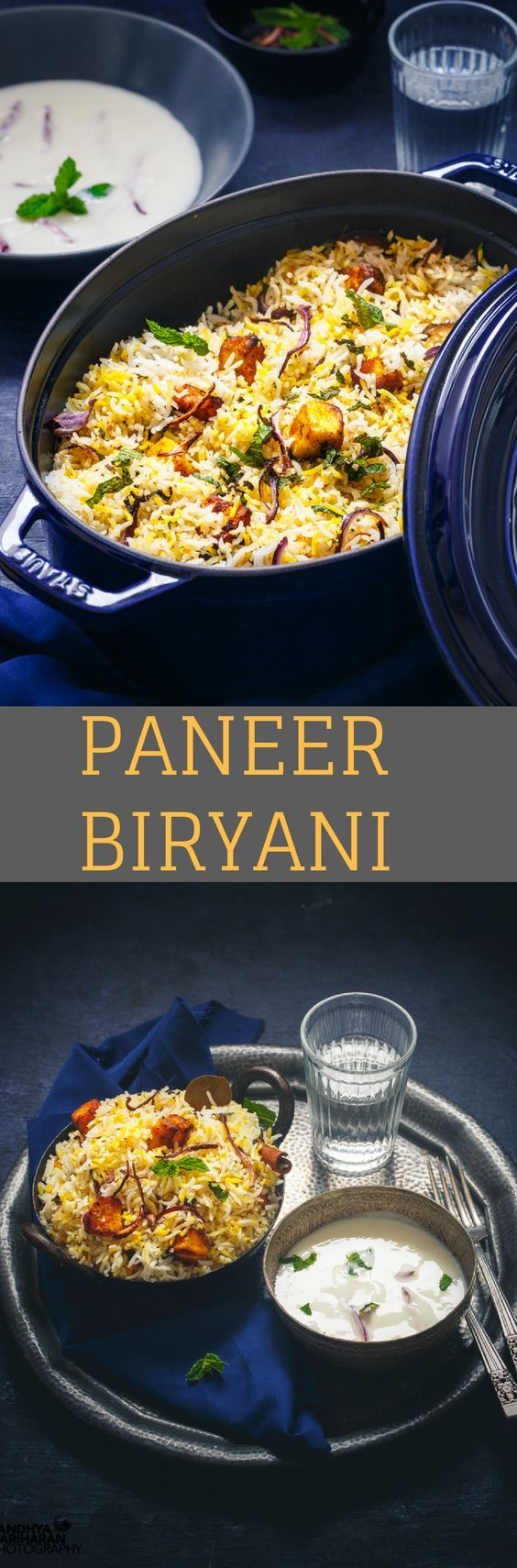 Paneer Biryani, unlike other regular Vegetable Biryani is an enhanced version of Pulao Rice.Perfect to make for a celebration or even as a part of weekend Menu. Also featuring my grand 'New' Staub Cocotte from Zwilling UK.