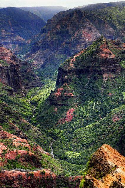 "the ""Grand Canyon of the Pacific""—Waimea Canyon on the island of Kauai."