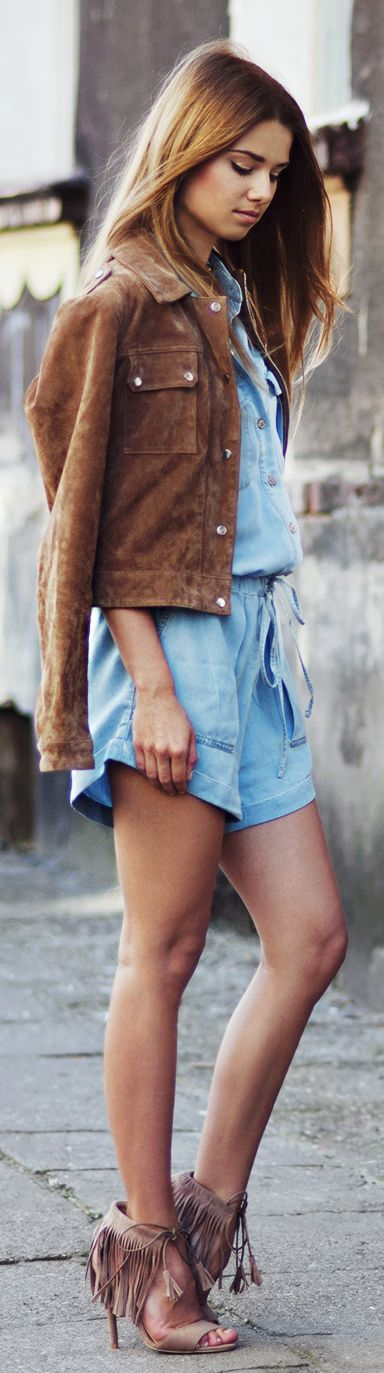 Skinny Liar Denim And Suede Outfit