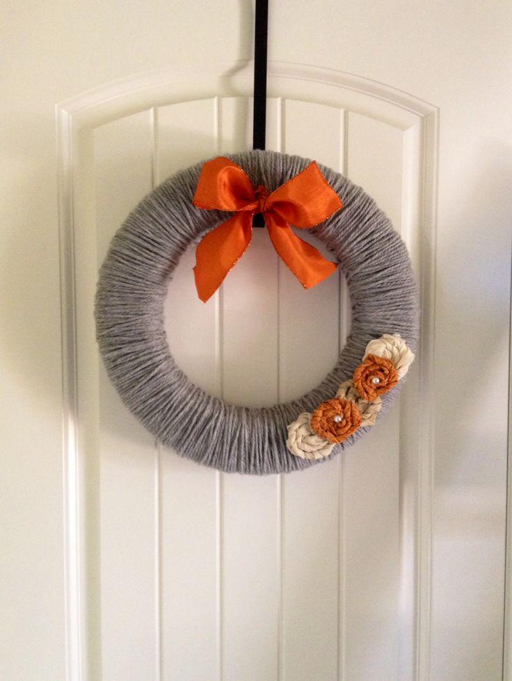 Fall Yarn wreath | Craft Ideas | Pinterest