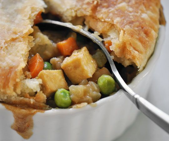 Vegan tofu and vegetable potpie! Has umami gravy too. So yummy and pretty easy. Husband loved it :)