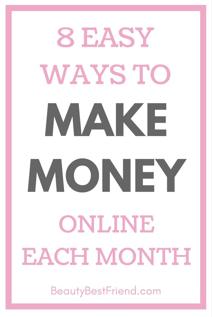 Looking to earn a bit of extra money each month? I show you 8 easy ways that you can earn a little bit extra online every month. Come and check out my post! earn money   earn money online   make money   make money online   how to start a blog   online surveys   online lotteries
