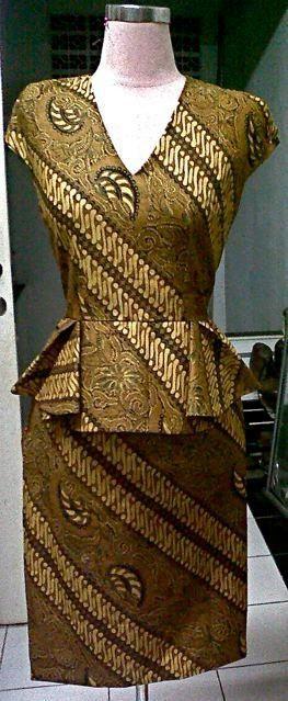 Peplum dress ....... Batik
