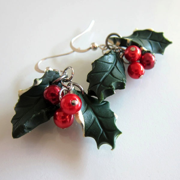 Christmas Earrings - Polymer Clay. $15.00, via Etsy.