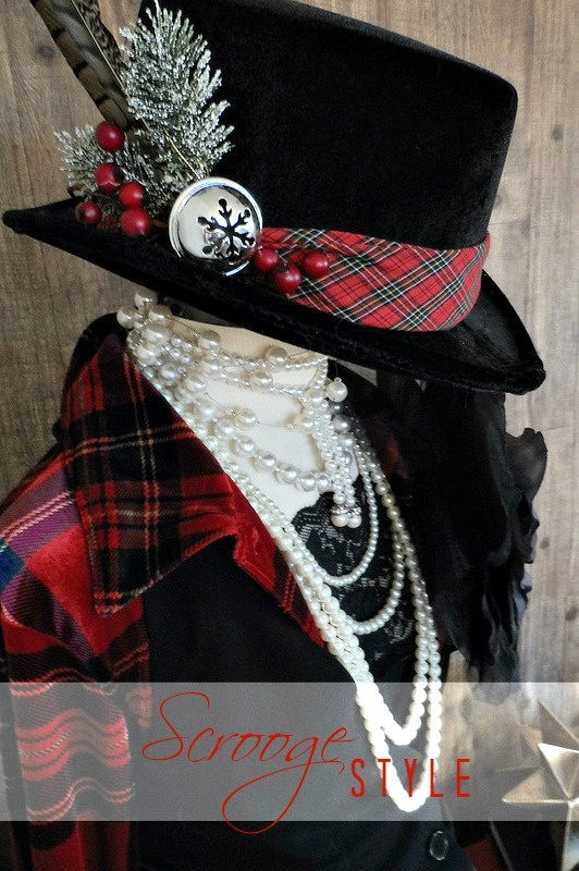 """Holiday Wardrobe Style: Thrift & Tips - Form """"dressed in (thrifted) holiday style"""" inspired by Scrooge via @NYCLQ at FocalPoint"""