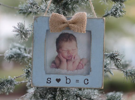 Ornament Baby's First Christmas Gift, New Family Gift, New Baby Ornament, Personalized Picture Frame