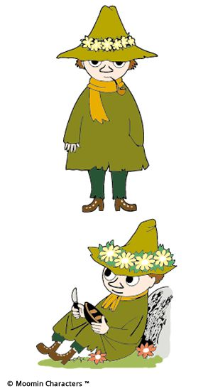 Snufkin is one of my favorite characters from the Moomin books by Tove Jansson.