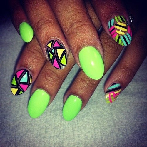 The 25 best neon green nails ideas on pinterest neon nails neon 10 nail design fashion for women prinsesfo Gallery