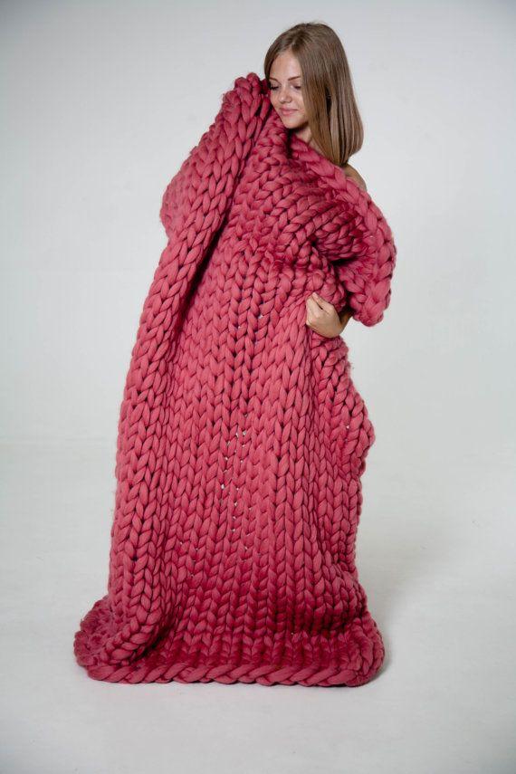 M s de 20 ideas incre bles sobre mantas de punto grueso en for Colchas de punto de lana