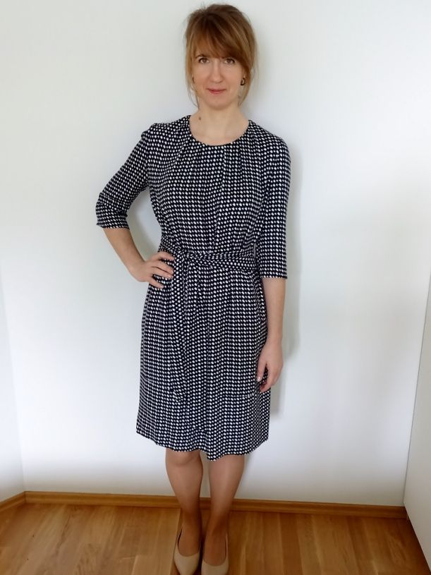 sukienka Burda 3/2016 model 102 A; dress