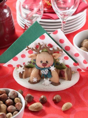 Servilletero #Navidad - Porcelana Fria descarga el patrón en www.eviadigital.com y decora tu mesa navideña