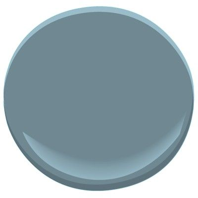 Blue Dusk 1644  Benjamin Moore Blue Dusk.    Gray blue. Deep grayish blues work very well in contemporary spaces. This is a nice alternative to pure grays, which can sometimes look dull. You may find that just painting one accent wall with this color is enough to add dimension to your room without making it feel closed in.