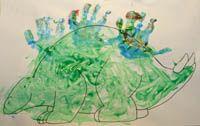 This and other dinosaur craftsDinosaur Crafts, Dinosaurs Art, Dinosaurs Crafts, Prints Dinosaurs, Dinosaurs Valentine, Handprint Art, Handprint Dinosaurs, Kids, Dinosaurs Handprint