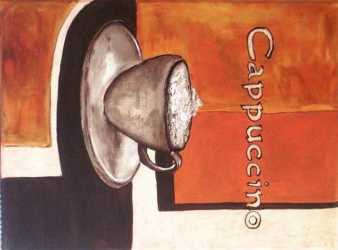 Buy Espresso Latte Cappuccino set painting - 40 x 30 cm each painting for R500.00