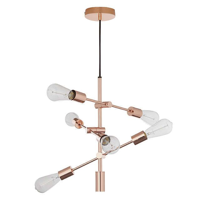 House By John Lewis Elias Retro Pendant Ceiling Light