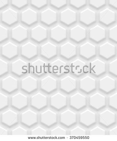 White seamless hexagonal background. Vector background made with gradient mesh.