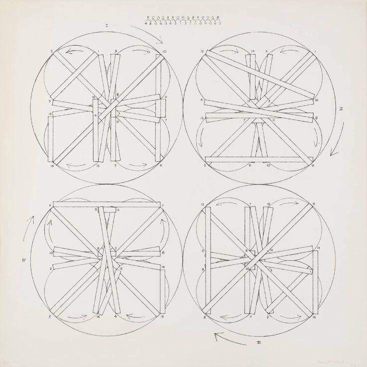 Kenneth Martin 'Rotation 'Frankfurt', Key Drawing', 1977 © The estate of Kenneth Martin