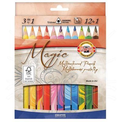 Lápis de Cor Magic Koh-I-Noor 12+1
