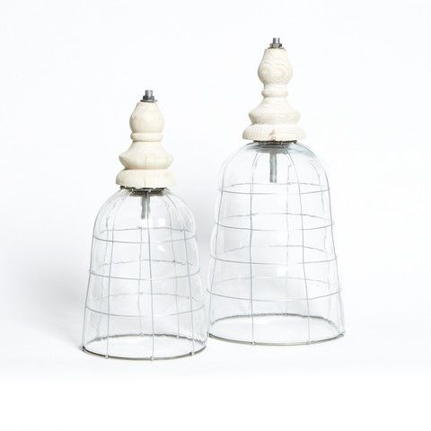 white Glass Industrial pendant Light - Small - (comes with white cord not shown in  pic )