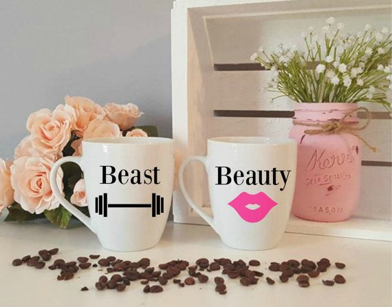 Hey, I found this really awesome Etsy listing at https://www.etsy.com/listing/269179081/beast-and-beauty-mug-matching-mugs-his
