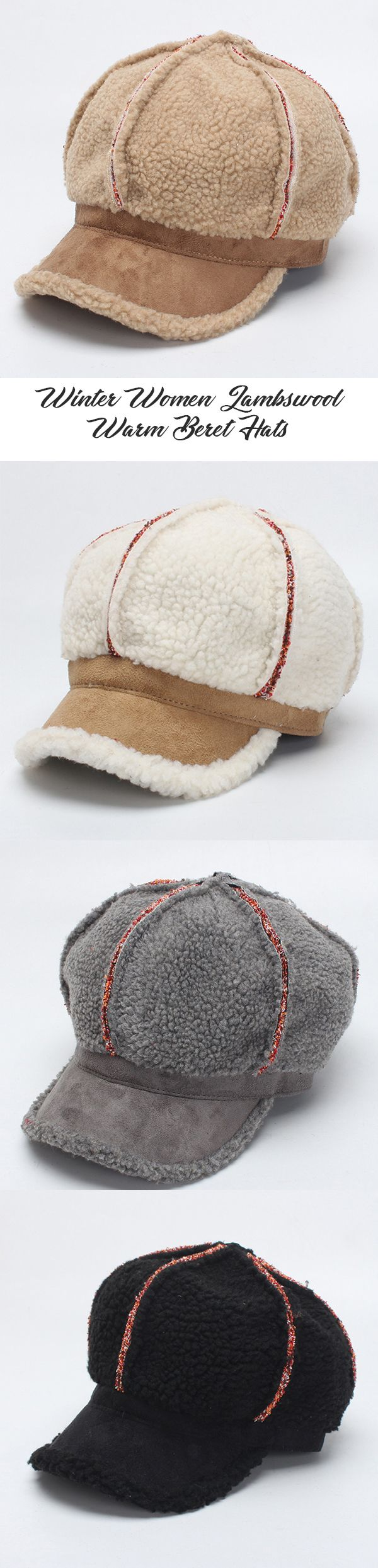 Best 25 crochet baseball hats ideas on pinterest crochet hats winter women lambwool warm beret hats casual windproof octagonal cap newsboy hat bankloansurffo Gallery