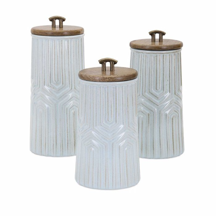 Imax 14340-2 Brant Lidded Containers Set of Two