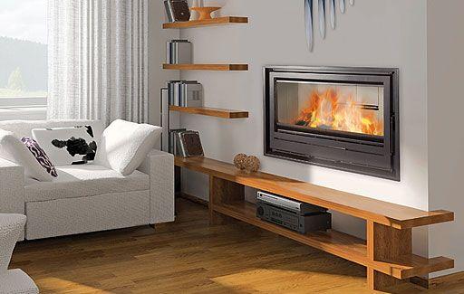 chimenea para calefaccion por aire canalizable modelo serie F