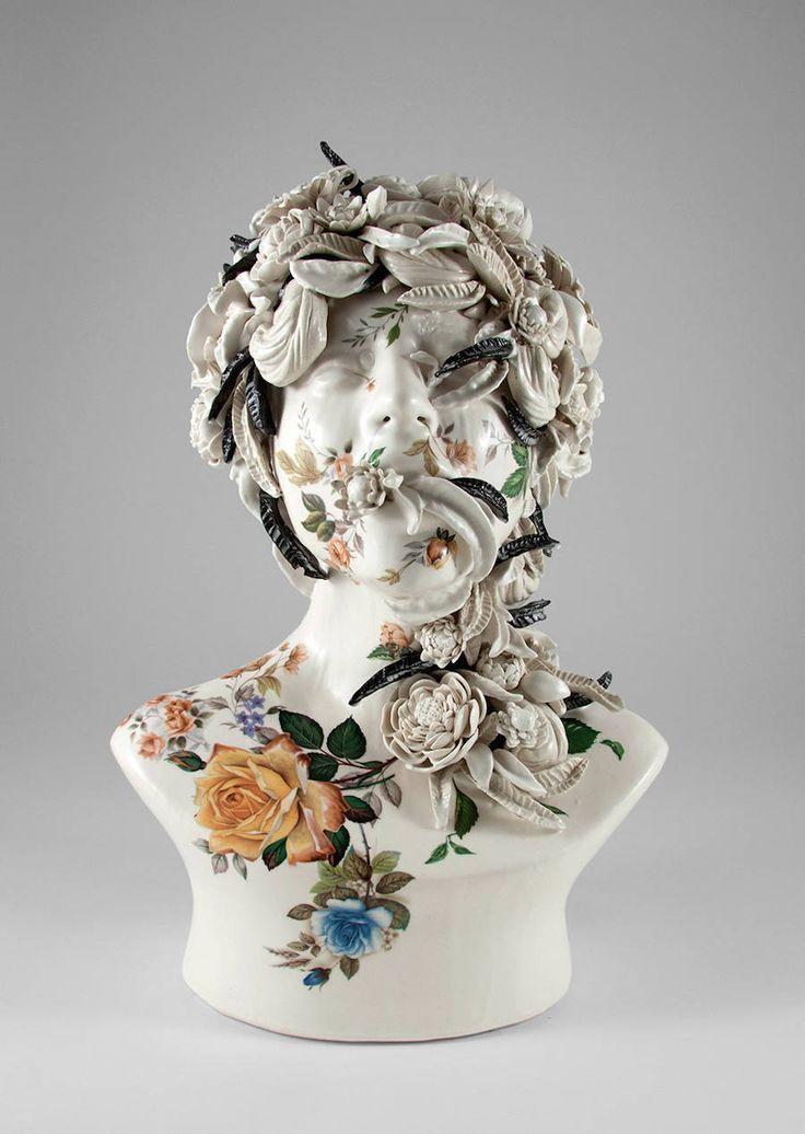 Delicate Ceramic Busts in Bloom – Fubiz Media