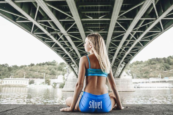 Turquoise lace bra... Shorts Siluet YOGA WEAR by Eva Plzáková  #siluetyogawear #madewithloveforyou