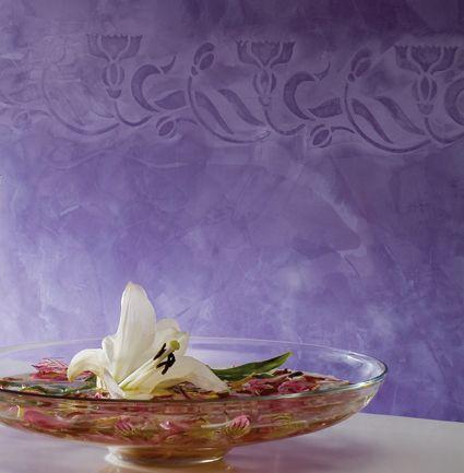 decoracin de pared en saln con estuco mtiko osaka coloreado con esencia violeta osakawith facebook
