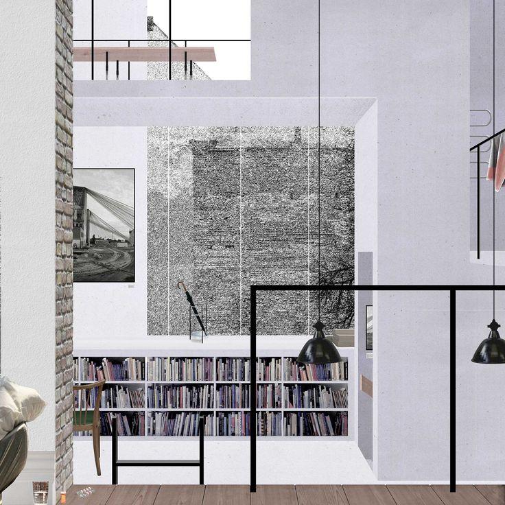 'Layered Wall' Interior | Mads Bjørn Christiansen | AA School of Architecture 2015