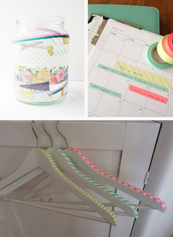 Washi Tape On Hangers Serendipitous Things Lovely Pins