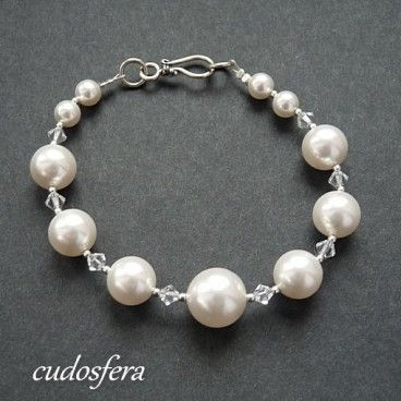 Pearls and Crystals bransoletka