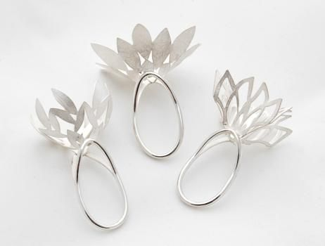 Rui Kikuchi I Will Bloom Rings Silver