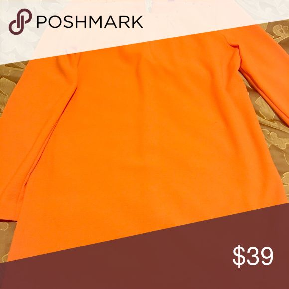 Forever 21 Orange mini dress laced at the neck with stud details!! Must have!! Never worn Forever 21 Dresses Mini