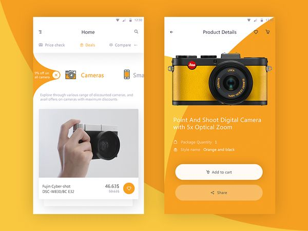"MaterialUp on Twitter: ""E-commerce app – 💡 User interface by Prakhar Neel Sharma #concept https://t.co/tXMAD2pBgf https://t.co/2KGakuzyp3"""