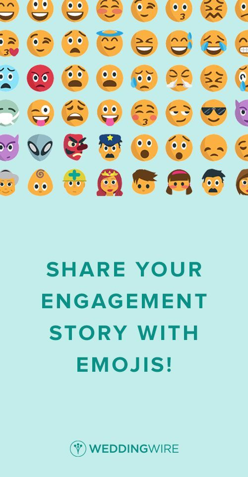 Show off your engagement story - in emoji! Sign up for yours along with access to other free wedding planning tools.