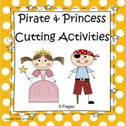 Pirates and Princesses Cutting Skills - Preschool/Kindergarten