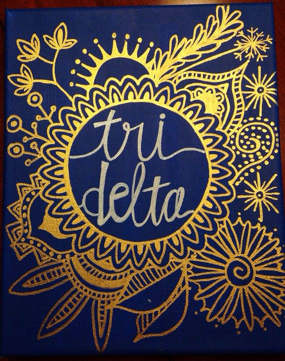 Sorority Circle Drawing Canvas by GreekCanvases on Etsy, $20.00